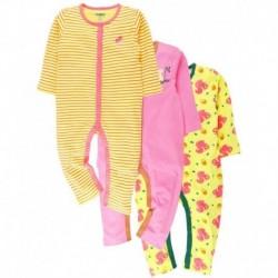 Snuggles Multicolor Romper - Pack Of 3