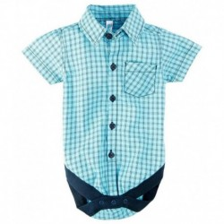 Snuggles Blue Half Sleeve Cotton Bodysuit