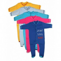 odway Pack of 5 Infants Sleep Suit