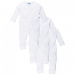 Snuggles White Cotton Rompers (Pack of 3)