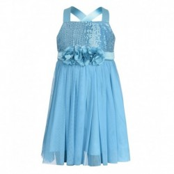Toy Balloon Kids Turquoise Net Dress For Girls