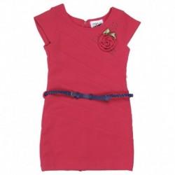 Peppermint Fuchsia & Navy Dress With Leggings, Handbag & Scarf