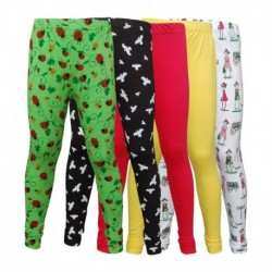 Little Star Combo Of 5 Leggings For Girls