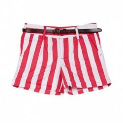 UCB  White/Pink Stripe Shorts For Kids