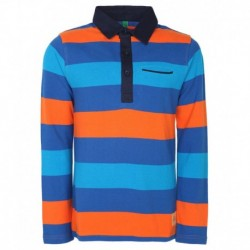 United Colors Of Benetton Blue Striped Polo T-Shirt