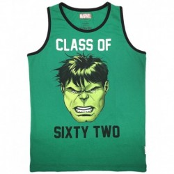 Avengers Green & Black Sleeveless Class Of Sixty Two Graphic T-shirt