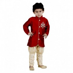 Vastramay Red Kurta Pajamas For Boys