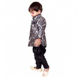 Tiny Toon Black Kurta Pajamas For Boys