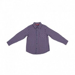 Nauti Nati Cotton Checks  Navy SHIRT For Kids