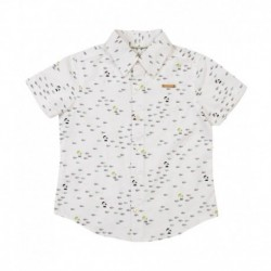 Nauti Nati White Half Sleeves Shirt