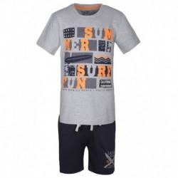 Gini & Jony Gray Printed T-Shirt With Shorts