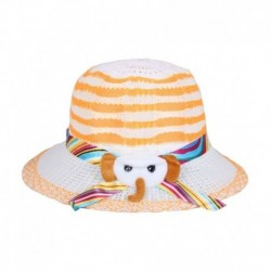 Sushito Orange Polyester Fidora Hat For Kids