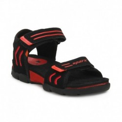Sparx Black Floater Sandals For Kids