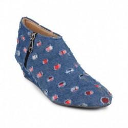 Bonzer Blue Ankle Length Boots