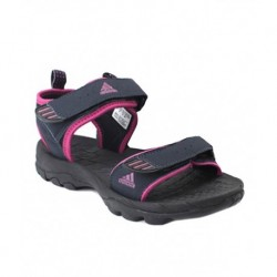 Adidas Black Synthetic Leather Floater Sandals