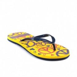 Franco Leone Yellow Women Flip Flops