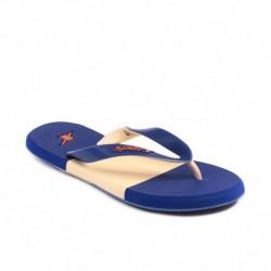 Sparx Sf2020L Blue Beige Flip Flops