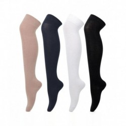 Bonjour Knee High Cotton Stockings For Girls - Pack of 4
