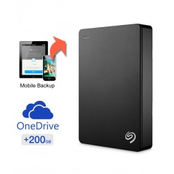 Seagate Backup Plus 4 TB Portable Hard Disk Drive with 200 GB of Cloud Storage & Mobile Device Backup - Black
